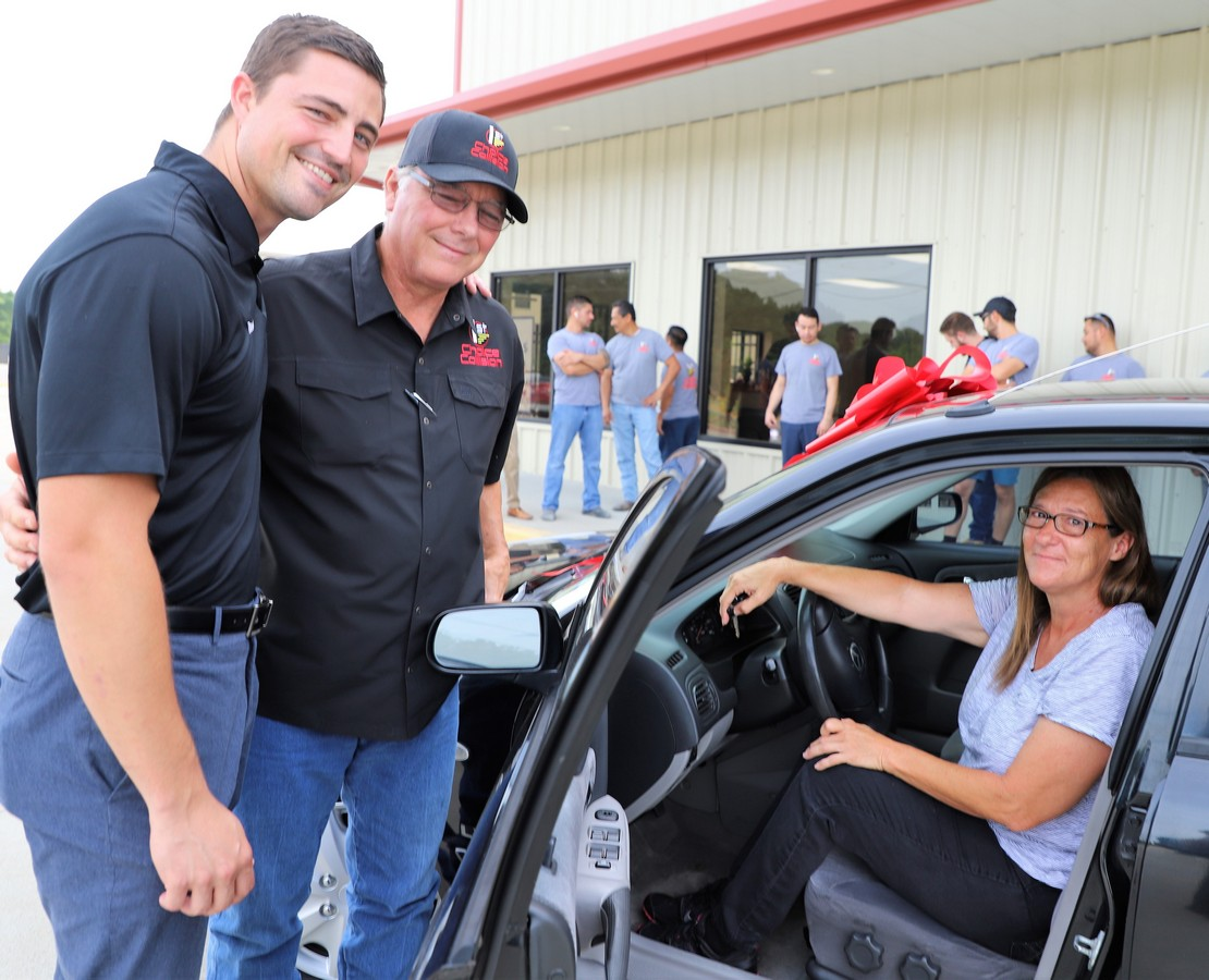 First Choice Collision Gifts Car to Single Mom
